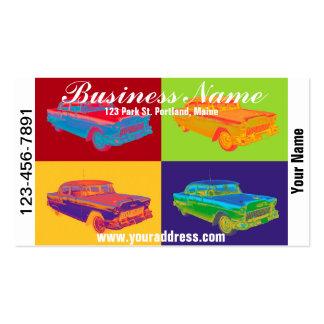 1955 Chevrolet Bel Air Pop Art Business Card Template