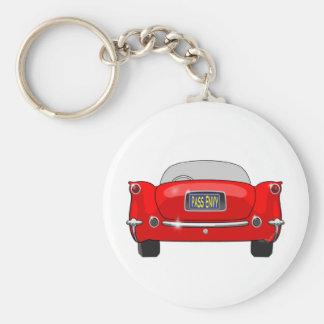 1955 Chevrolet Corvette Pass Envy Basic Round Button Key Ring