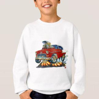1955 Chevy Belair Maroon Car Sweatshirt