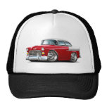 1955 Chevy Belair Red-White Car Mesh Hats