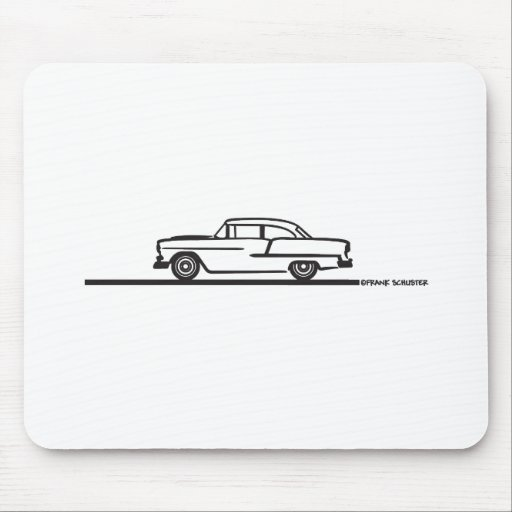 1955 Chevy Hardtop Post Mouse Pad