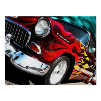 1955 Chevy Hot Rod Poster