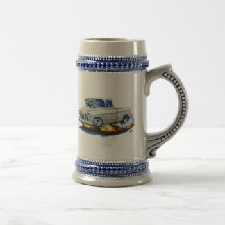 1955 Chevy Pickup White Truck Beer Stein