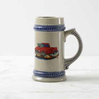 1955 Chevy Stepside Pickup Red Truck Beer Stein