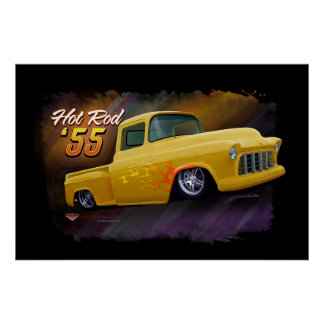 1955 Chevy truck poster