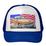 1955 Lincoln Capri With American Flag Hat