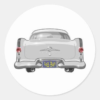 1955 Pontiac Star Chief Round Sticker