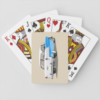 1955 Shoebox Playing Cards Light Blue and White
