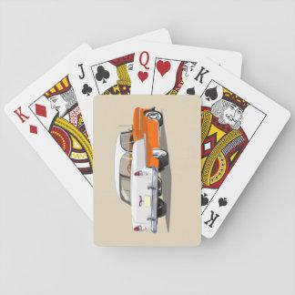 1955 Shoebox Playing Cards Orange and White