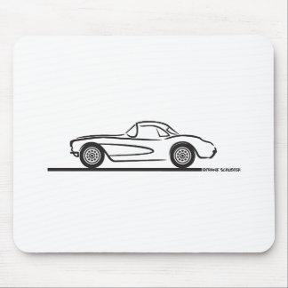 1956 1957 Chevrolet Corvette Hardtop Mouse Pad