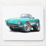 1956-57 Corvette Aqua Car Mouse Pad