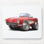 1956-57 Corvette Red Car Mouse Pad