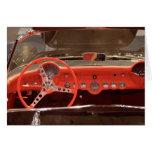 1956 Chevrolet Corvette Steering Wheel and Dash Greeting Card