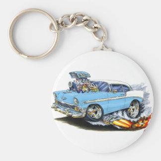 1956 Chevy 150-210 Lt Blue Car Basic Round Button Key Ring