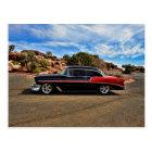 1956 chevy bel air street rod postcard