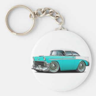 1956 Chevy Belair Turquoise-White Car Key Ring