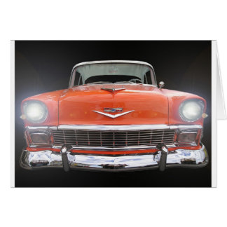 """1956 CHEVY """"LIGHTS ON"""" GREETING CARD"""