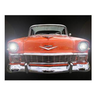"1956 CHEVY ""LIGHTS ON"" POSTCARD"