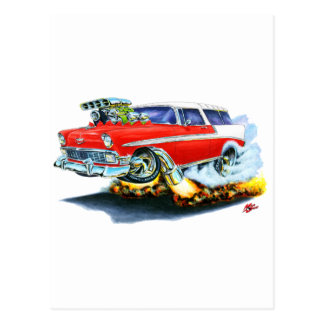 1956 Chevy Nomad Red Car Post Cards