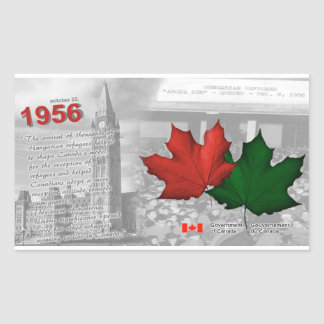 1956-Hungarian Revolution & Refugees in Canada Rectangular Sticker