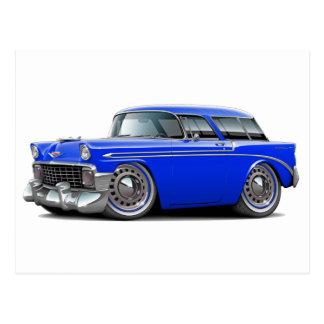1956 Nomad Blue Car Post Card
