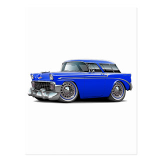 1956 Nomad Blue Car Postcards