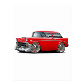 1956 Nomad Red Car Post Card
