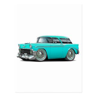 1956 Nomad Turquoise Car Postcard