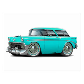 1956 Nomad Turquoise Car Postcards