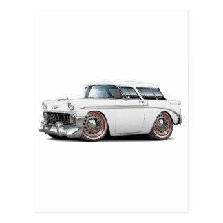 1956 Nomad White Car Post Card