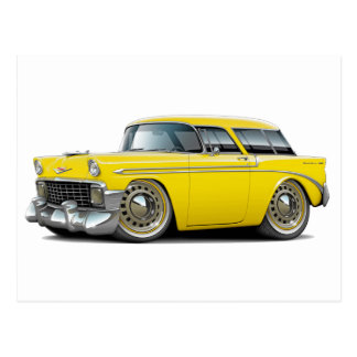 1956 Nomad Yellow Car Postcards