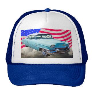 1956 Sedan Deville Cadillac And American Flag Cap