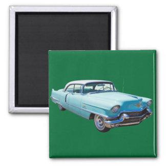 1956 Sedan Deville Cadillac Luxury Car Square Magnet