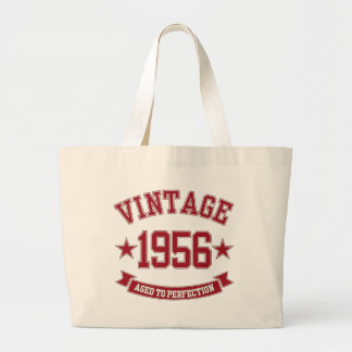 1956 Vintage Aged to Perfection Large Tote Bag