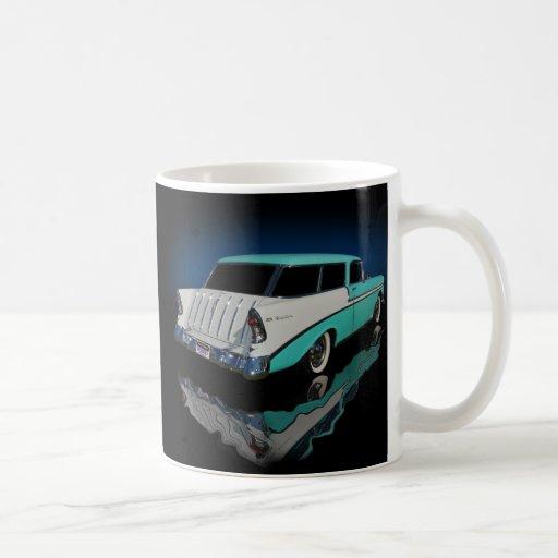 1956 wagon basic white mug