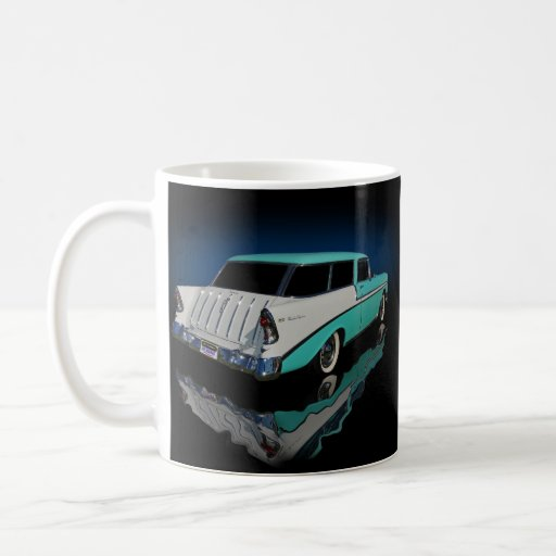 1956 wagon classic white coffee mug