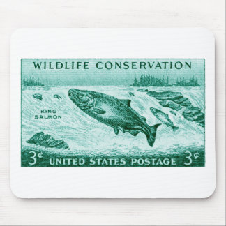 1956 Wildlife Conservation, Salmon Mouse Mat