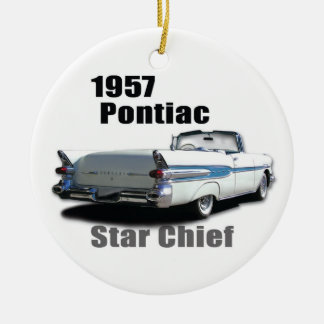 1957 & 1959 PONTIACS CHRISTMAS ORNAMENT