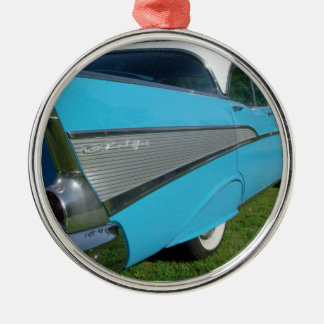 1957 57 Blue Chevy Bel Air Christmas Ornament