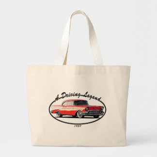 1957 BEL AIR RED CANVAS BAGS