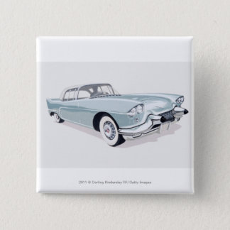 1957 Cadillac with silhouette of driver inside 15 Cm Square Badge