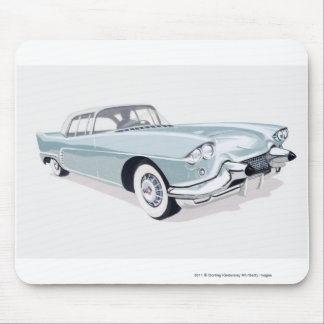 1957 Cadillac with silhouette of driver inside Mouse Pad