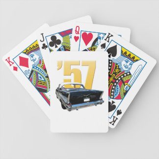 1957 Chevrolet Bel Air Rear View Playing Cards