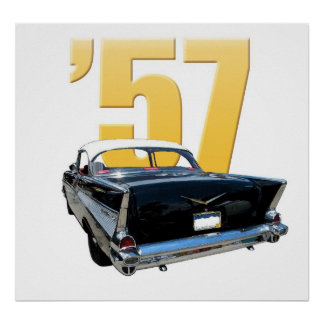 1957 Chevrolet Bel Aire Rear View Poster
