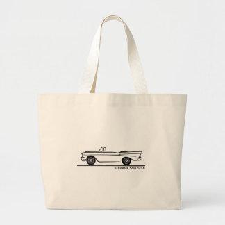 1957 Chevrolet Convertible 2-10 Bel Air Tote Bags