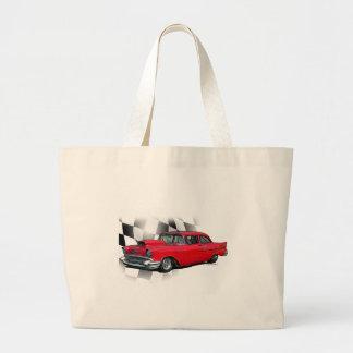 1957 Chevrolet Dragster Large Tote Bag