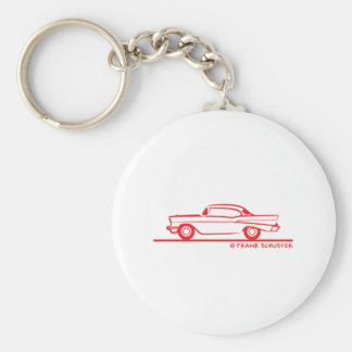 1957 Chevrolet Hardtop Coupe Basic Round Button Key Ring