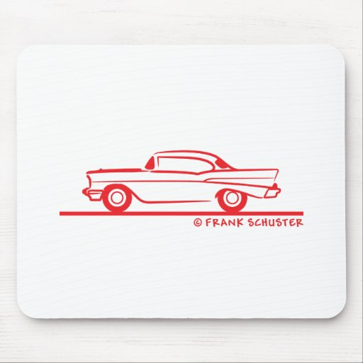 1957 Chevrolet Hardtop Coupe Mouse Pads
