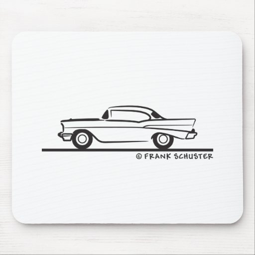 1957 Chevrolet Hardtop Coupe Mousepads