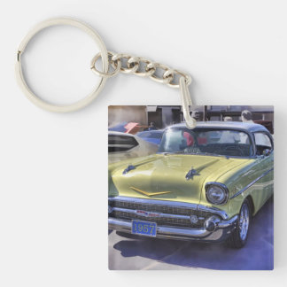 1957 CHEVROLET Single-Sided SQUARE ACRYLIC KEY RING